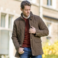HATFIELD - Stylish quilted jacket for men