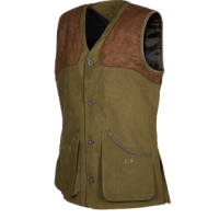 DOLMAN - Traditional gilet with quilted shoulders in alcantara