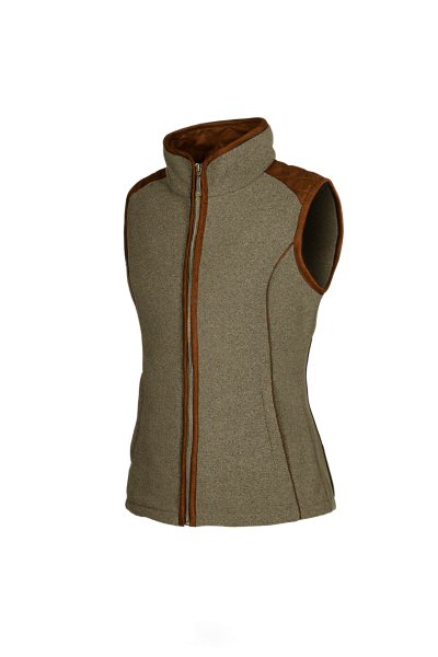 KATE Ladies gilet with a woollook appearance