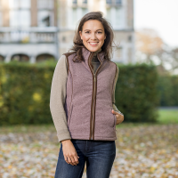 KATE - Ladies gilet with a woollook appearance