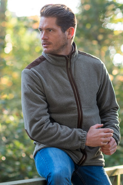CHARLES A soft touch fleece with a woollook appearance