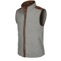 HARRISON - A soft touch gilet with a woollook appearance