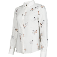 STEPHANIE - A lovely very soft viscose horse or beagle print blouse