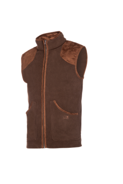 NEWINGTON Fleece gilet with a classic country look