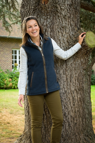FAIRWAY A long high-end fleece gilet