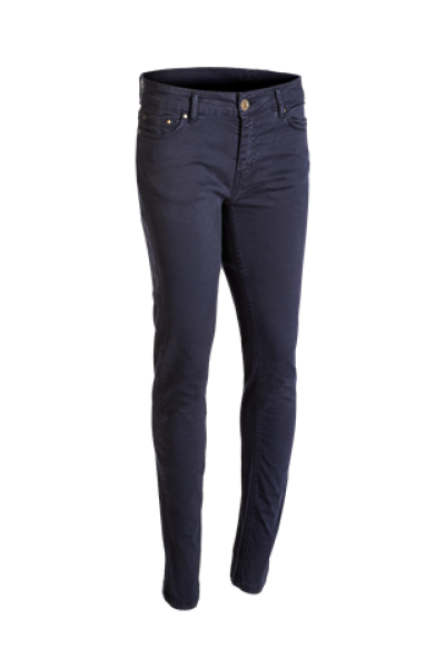 VERSAILLES A cotton stretch lady 5-pocket trousers