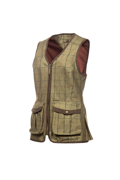 KENWOOD Shooting vest in printed tweed
